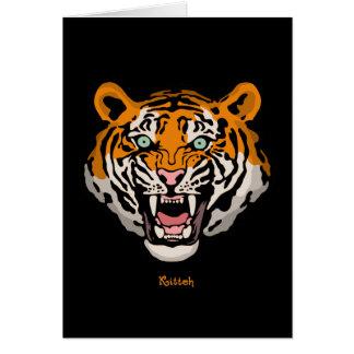 Tiger Kitteh Greeting Cards