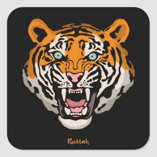 Tiger Kitteh Square Sticker