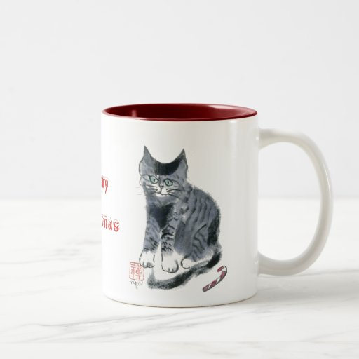 Tiger Kitten asks, What Candy Cane? Coffee Mugs