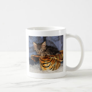 Tiger kitten coffee mug
