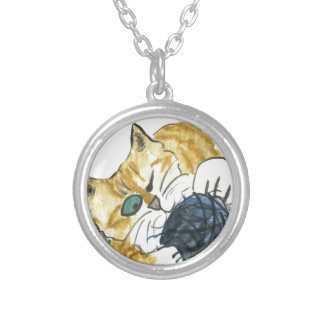Tiger Kitten's One Eyed Yarn Attack Personalized Necklace
