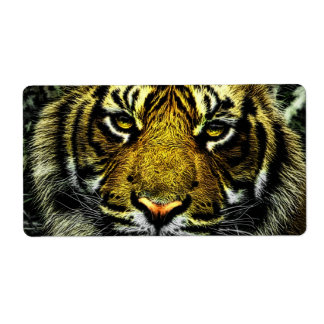 Tiger Personalized Shipping Labels