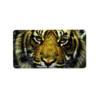 Tiger Custom Address Label