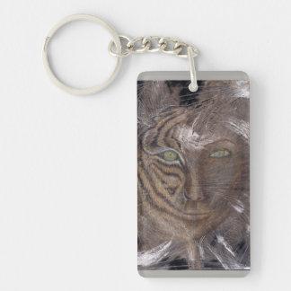 Tiger Lady Keychain