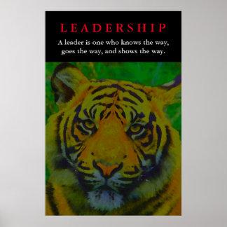 Tiger Leadership Motivational Poster