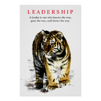 Tiger Leadership Motivational Poster