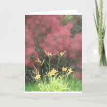Tiger Lilies and Smoketree Card