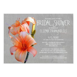 Tiger Lilies Bridal Shower Invitations