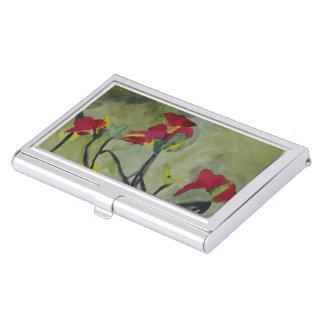 Tiger Lilies Business Card Holder