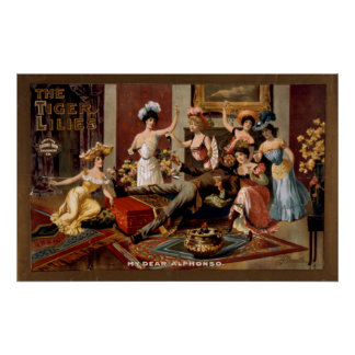 TIGER LILIES Chorus Girls Act VAUDEVILLE Poster