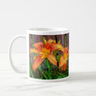 Tiger Lilies Classic White Coffee Mug