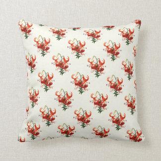Tiger Lilies Throw Pillow