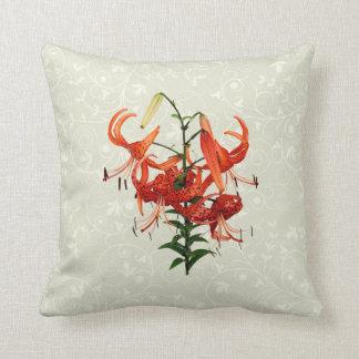 Tiger Lilies Throw Pillows