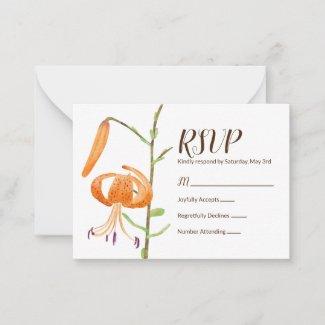 Tiger Lilies RSVP Card
