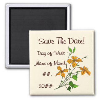 Tiger Lilies (Save The Date Magnet) 2 Inch Square Magnet