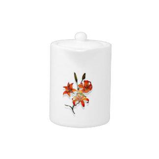 Tiger Lilies Teapot