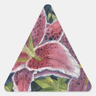 Tiger Lilies Triangle Sticker