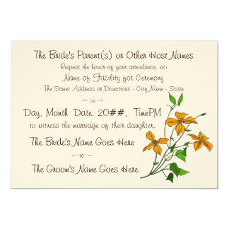 "Tiger Lilies (Wedding Invitation) 5"" X 7"" Invitation Card"