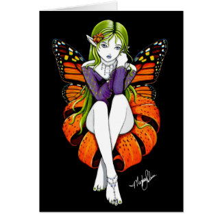 Tiger Lillith Flower Fairy Card