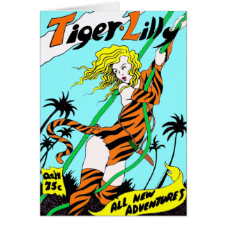 """""""Tiger Lilly"""" Greeting Card"""