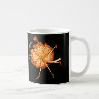 Tiger Lilly on Black Background Coffee Mug
