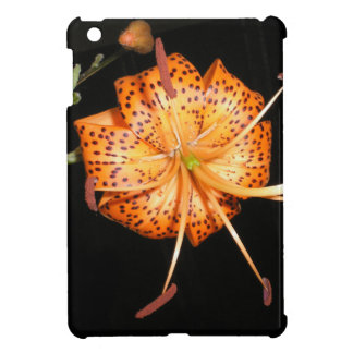 Tiger Lilly on Black Background iPad Mini Cases