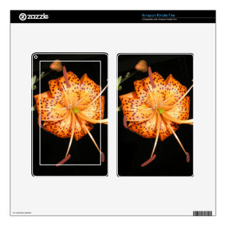 Tiger Lilly on Black Background Kindle Fire Skin