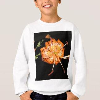 Tiger Lilly on Black Background Sweatshirt