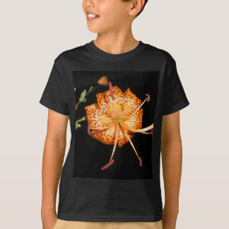Tiger Lilly on Black Background T-Shirt