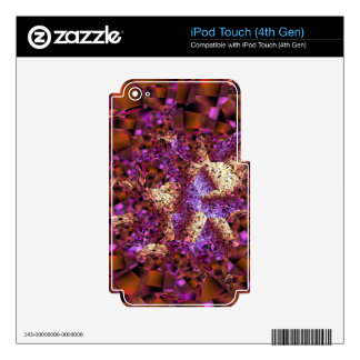Tiger Lily Abstract Painting Multiple Giftes iPod Touch 4G Skins