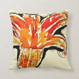 Tiger Lily accent cushion Throw Pillows