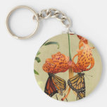 Tiger Lily and Monarchs Keychains