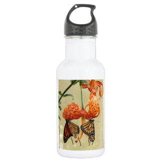 Tiger Lily and Monarchs Water Bottle