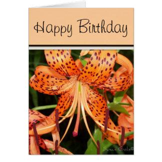 Tiger Lily Birthday Card Cards