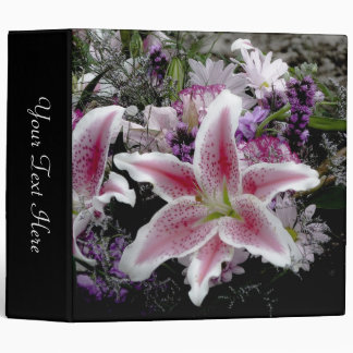 Tiger Lily Black Photo Album Binder
