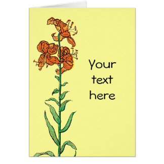 Tiger Lily by Kate Greenaway Card