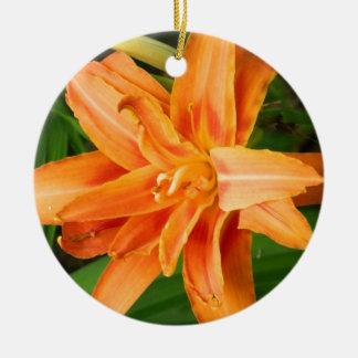 Tiger Lily Ceramic Ornament