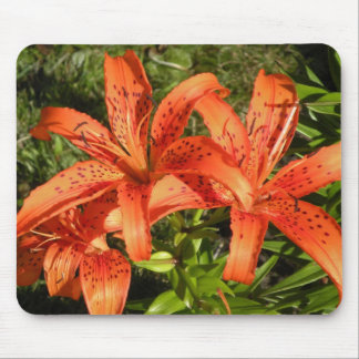 Tiger Lily Floral Mouse Pad
