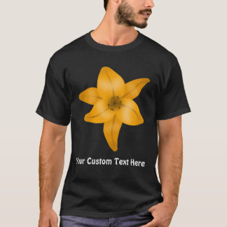Tiger Lily Flower on Black. T-Shirt