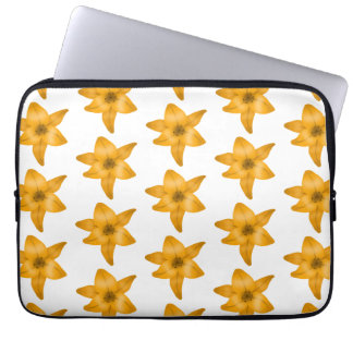 Tiger Lily Flowers Pattern Laptop Computer Sleeve