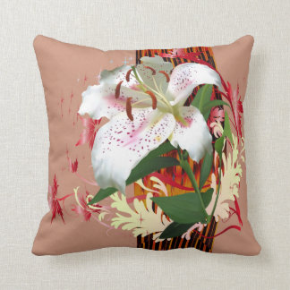Tiger Lily Flowers Throw pillows