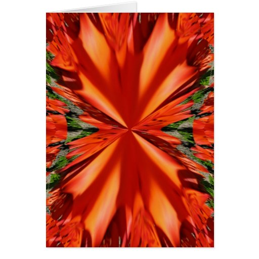 Tiger Lily Fractal Art Blank Note Card