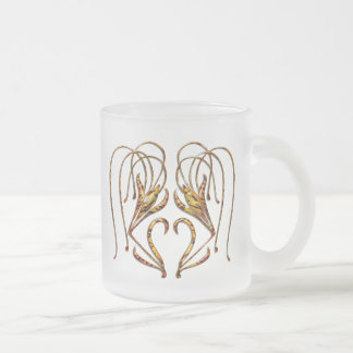 Tiger Lily Frosted Glass Coffee Mug