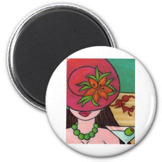 Tiger Lily Hat Fridge Magnet