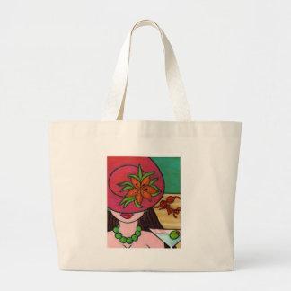 Tiger Lily Hat Jumbo Tote Bag