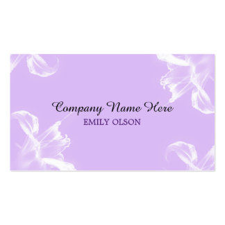 Tiger Lily Lavendar Business Card
