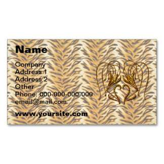 Tiger Lily Magnetic Business Card