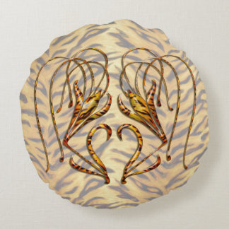 Tiger Lily Round Pillow
