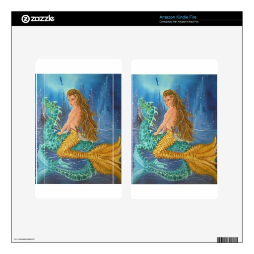 Tiger Lily Mermaid Kindle Fire Decal