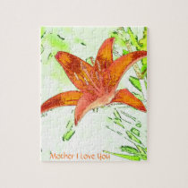 Tiger Lily Mother I Love You Puzzle